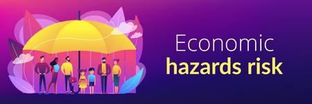 Social insurance concept banner header.