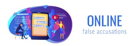 Cyberstalking concept banner header.