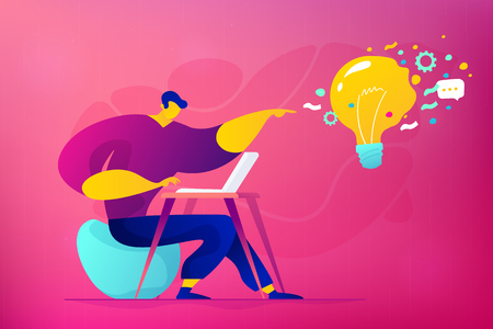 Social media marketing concept vector illustration.