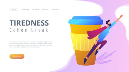 Coffee break concept landing page.