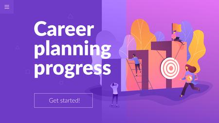 Career development landing page template.
