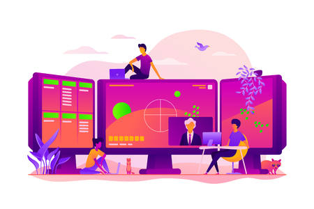 E-sport game streaming vector concept vector illustration.