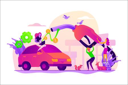 Illustration vectorielle de carburant économie concept. Vecteurs