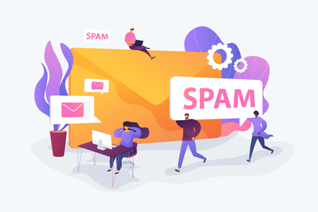 Spam concept vector illustration.