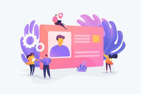 Smart ID card vector illustration. Illustration