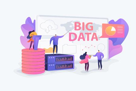 Big data conference vector illustration.