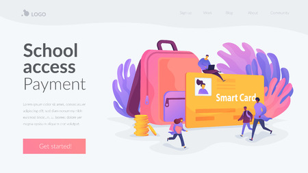 Smartcards for schools landing page template.