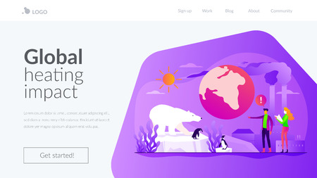 Global warming landing page template.