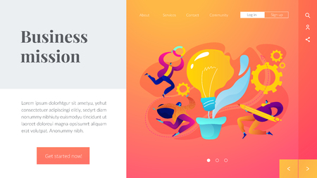 Vision statement landing page template.