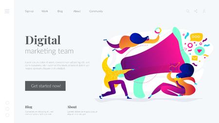 Digital marketing team landing page template.