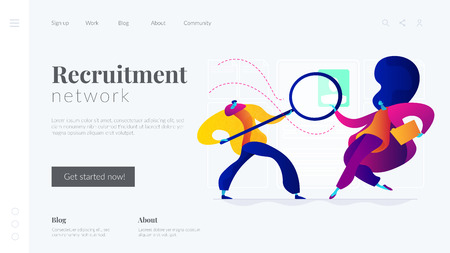 Recruitment agency landing page template. Reklamní fotografie - 121165615