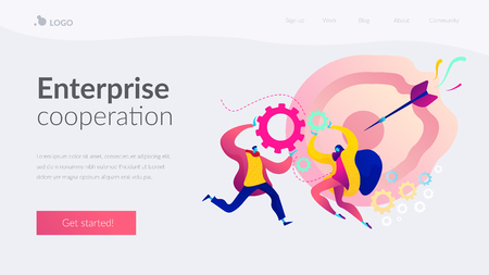 Collaboration landing page template.