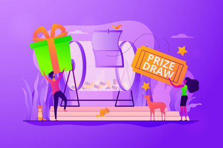 Prize draw concept vector illustration.