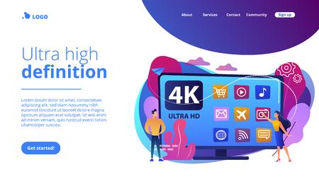 UHD smart TV concept landing page.