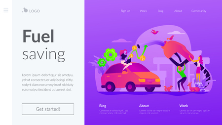 Fuel economy landing page template.