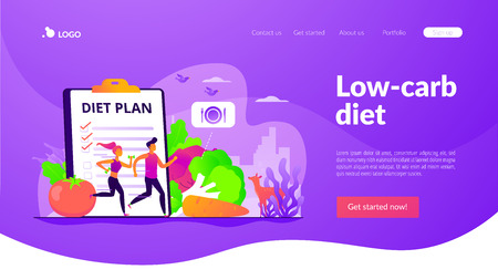 Weight loss diet landing page template.