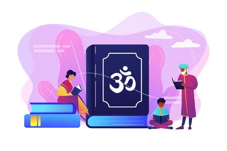 Hinduism concept vector illustration.