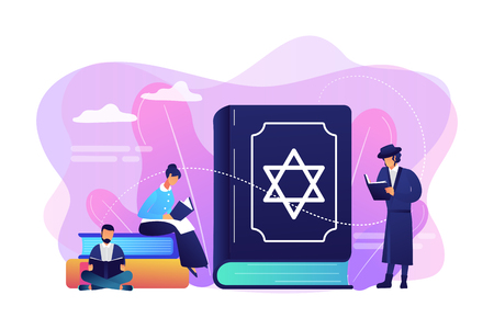Judaism concept vector illustration.