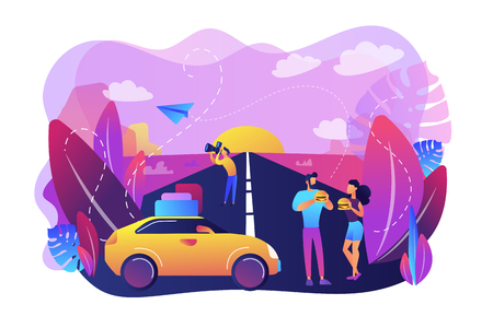 Road trip concept vector illustration