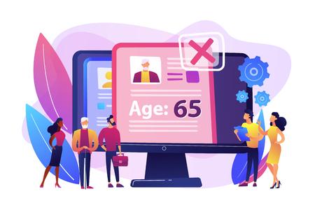 Ageism social problem concept vector illustration