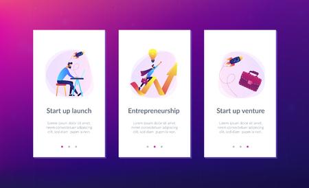 Start up launch app interface template.