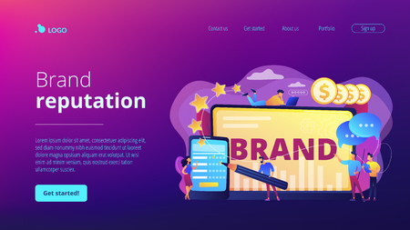 Brand reputation concept landing page