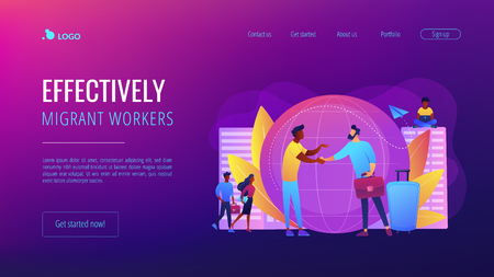 Expat work concept landing page