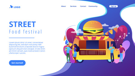 Food festival concept landing page.