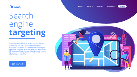 Local search optimization concept landing page