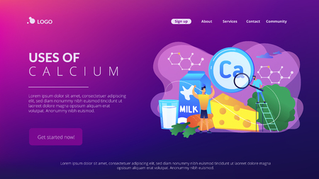 Uses of Calcium concept landing page.