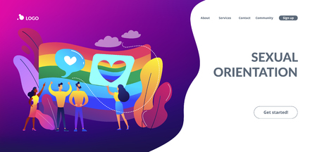 Sexuality and gender identity concept landing page.