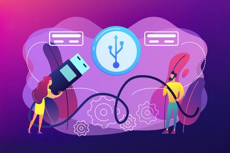 USB connection concept vector illustration. Stockfoto - 123555176
