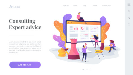 Consulting landing page template.