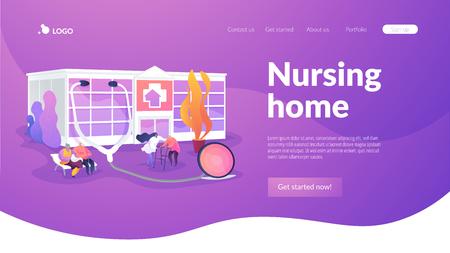 Nursing home landing page concept