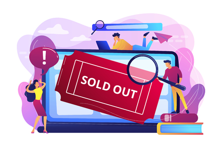 Sold-out event concept vector illustration.