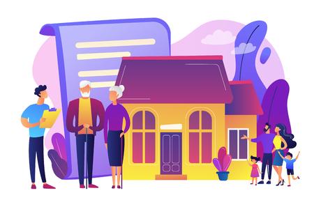 Retirement estate planning concept vector illustration. Vektorové ilustrace