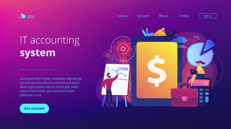 Enterprise accounting concept landing page.