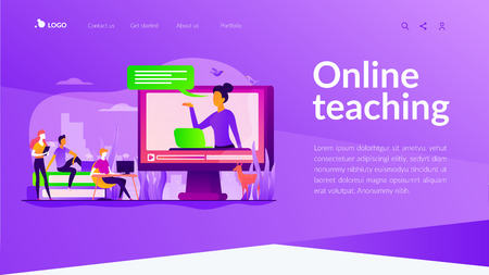Online teaching landing page template