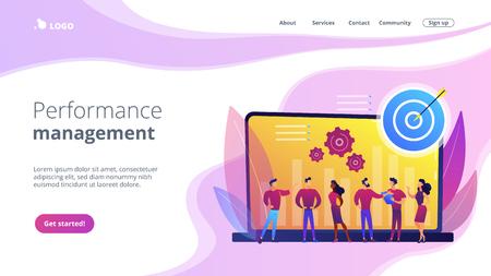Performance management concept landing page.