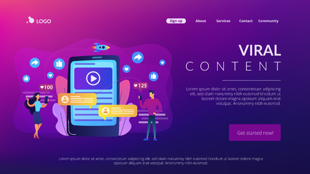 Viral content concept landing page