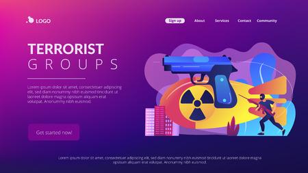 International terrorism concept landing page.