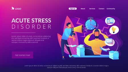 Stress concept landing page