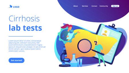 Cirrhosis concept landing page.