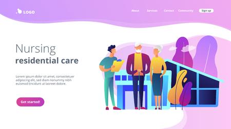 Nursing home concept landing page.
