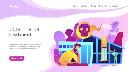 Drug rehab center concept landing page. Illustration