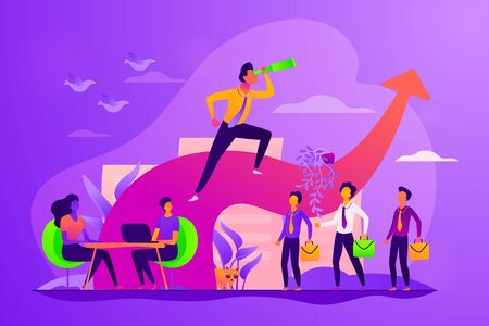 Leadership concept vector illustration.