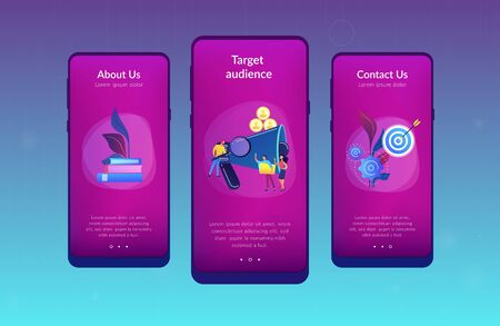 Target group app interface template.