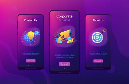 Collaboration app interface template. Illustration
