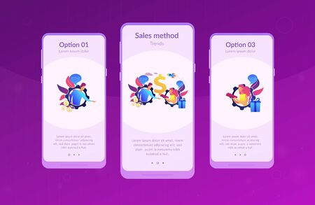 Personalized selling app interface template.