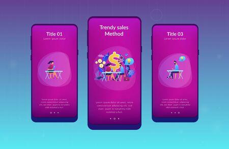 Consultative sales app interface template. Illustration